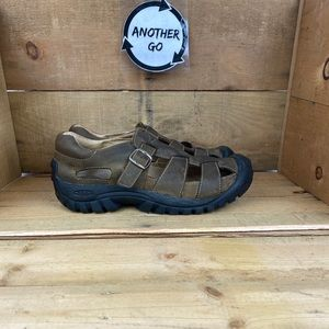 Women's Keen Brown Leather Fisherman Sandals Shoes